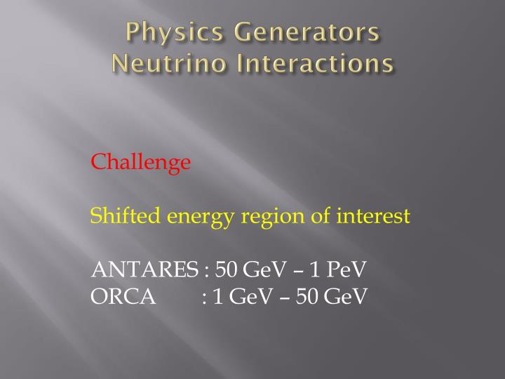 Physics Generators