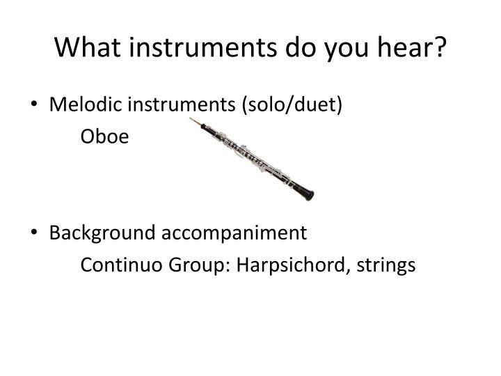 What instruments do you hear?