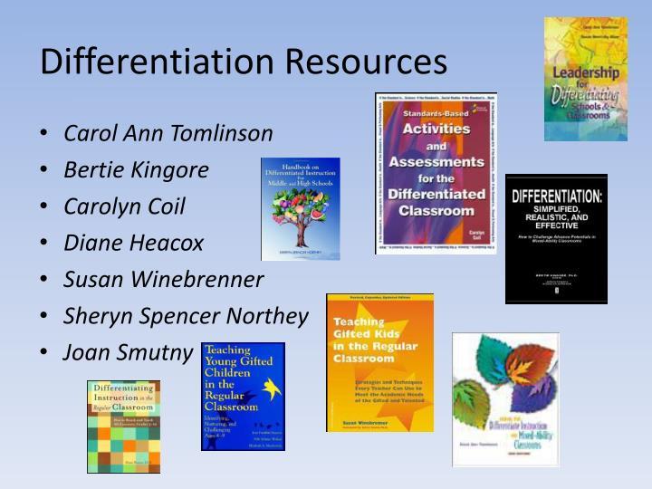 Differentiation Resources