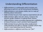 understanding differentiation
