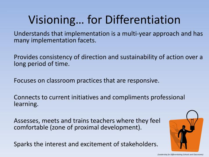 Visioning… for Differentiation