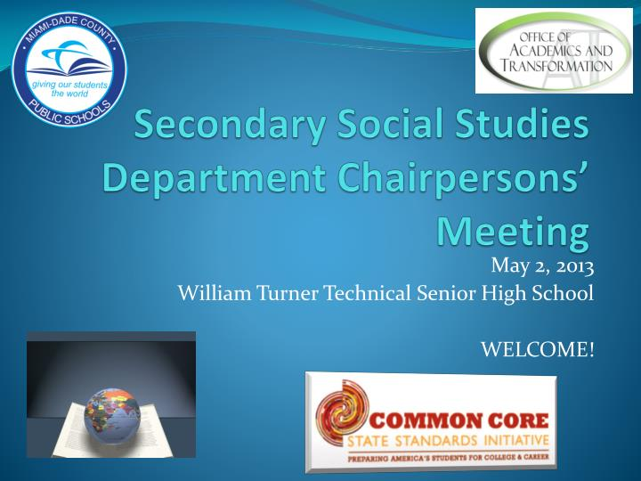 secondary social studies department chairpersons meeting