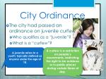 city ordinance