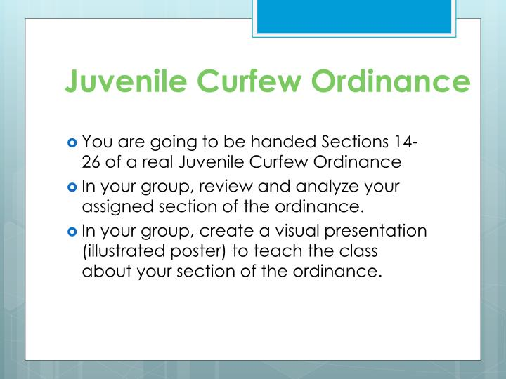 Juvenile Curfew Ordinance
