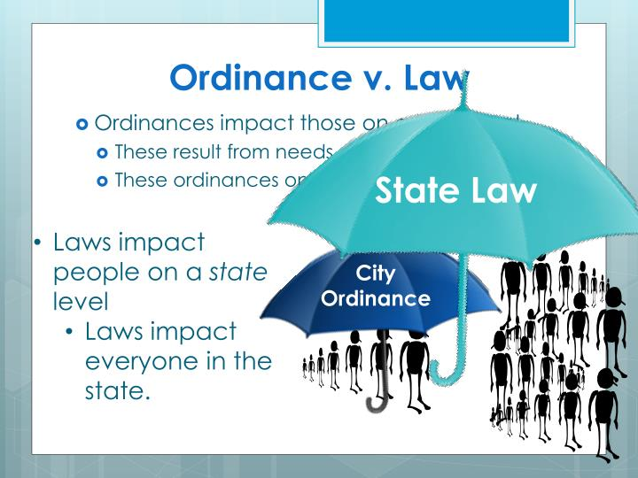 Ordinance v. Law