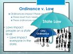 ordinance v law