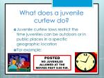 what does a juvenile curfew do
