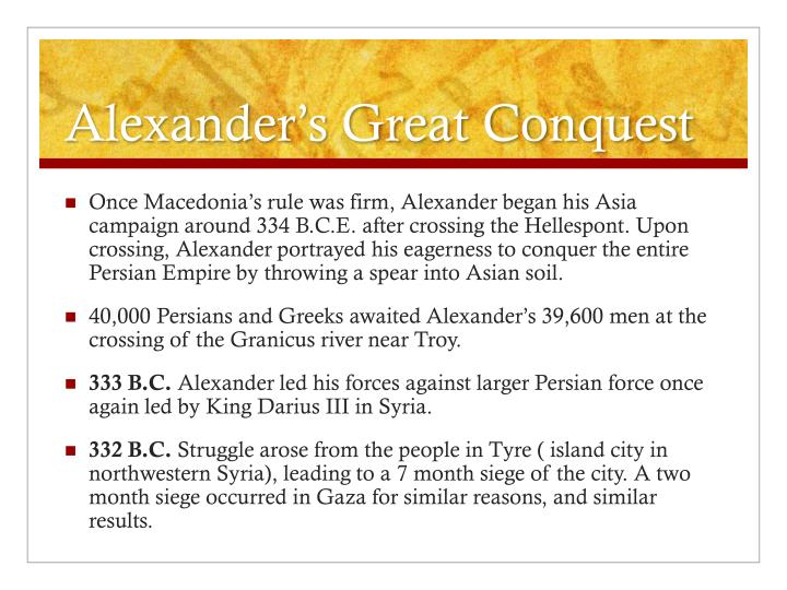 Alexander's Great Conquest