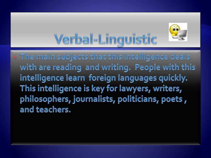 Verbal-Linguistic