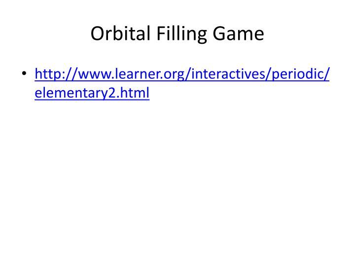 Orbital Filling Game