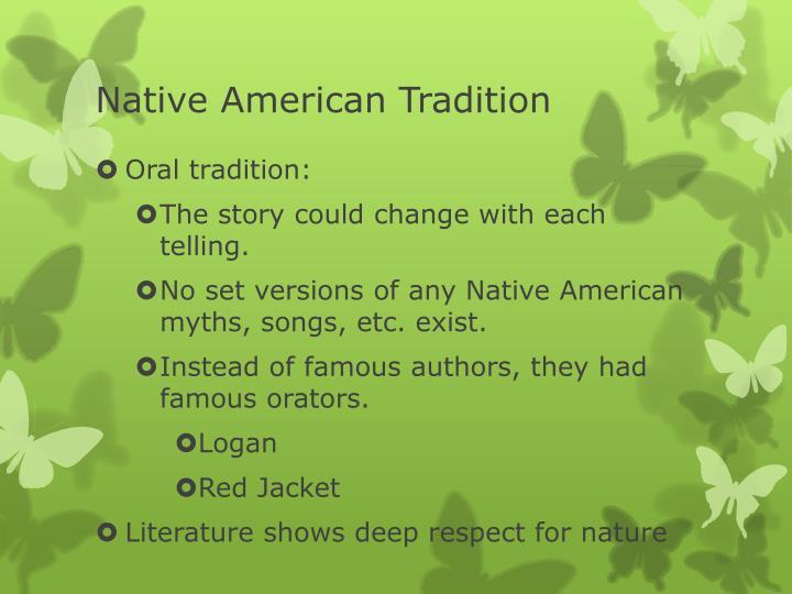 Native American Tradition