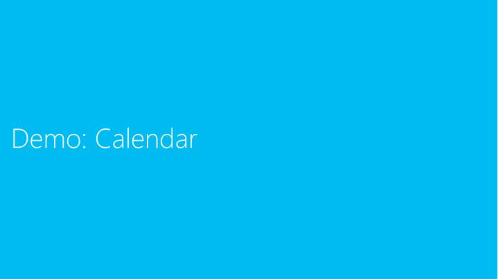 Demo: Calendar