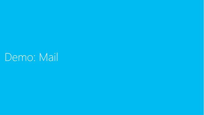 Demo: Mail