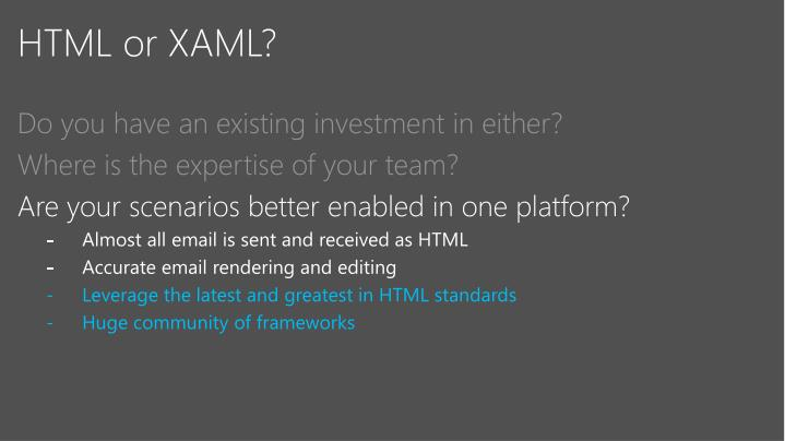 HTML or XAML?
