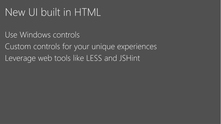 New UI built in HTML