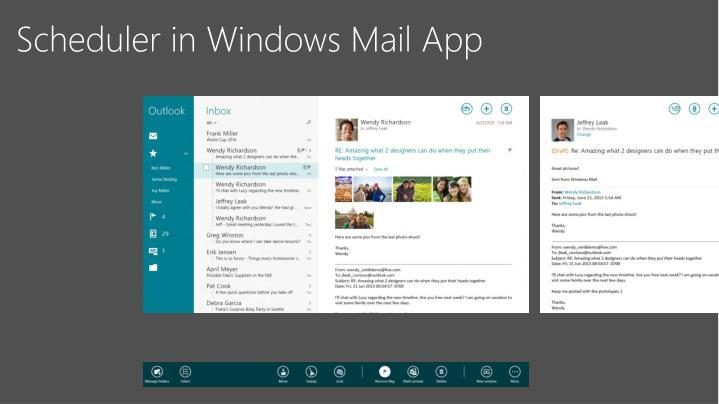 Scheduler in Windows Mail App