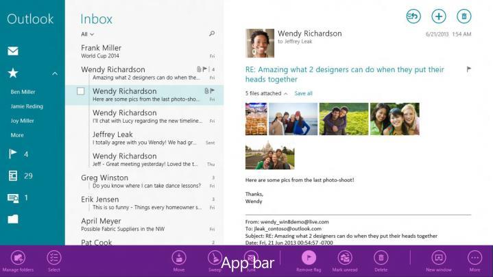 App bar