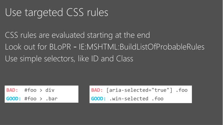 Use targeted CSS rules