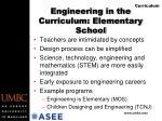engineering in the curriculum elementary school