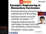 example engineering is elementary curriculum