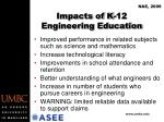 impacts of k 12 engineering education