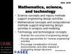 mathematics science and technology