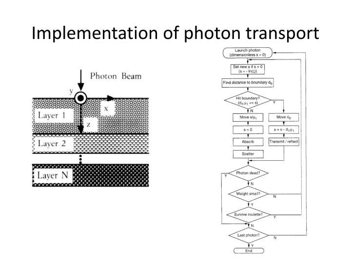 Implementation of photon transport