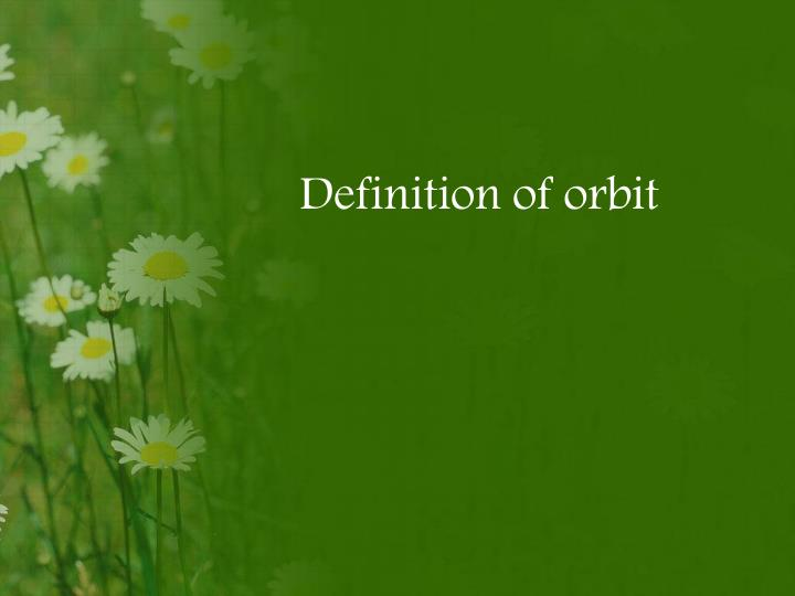 Definition of orbit