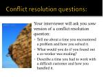 conflict resolution questions