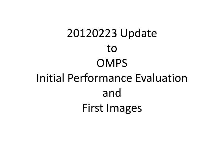20120223 Update