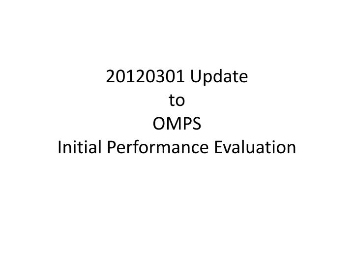 20120301 Update