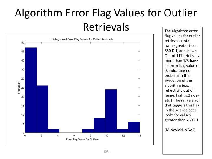 Algorithm Error Flag Values for Outlier Retrievals
