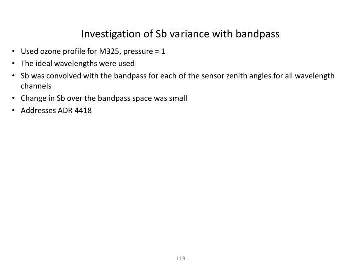Investigation of
