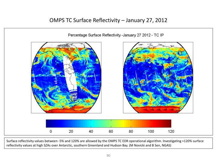 OMPS TC Surface Reflectivity – January 27, 2012