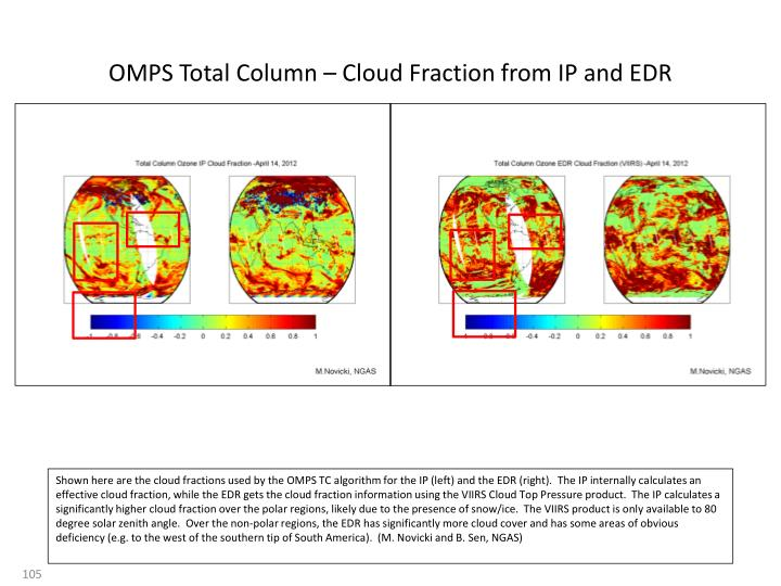 OMPS Total Column – Cloud Fraction from IP and EDR