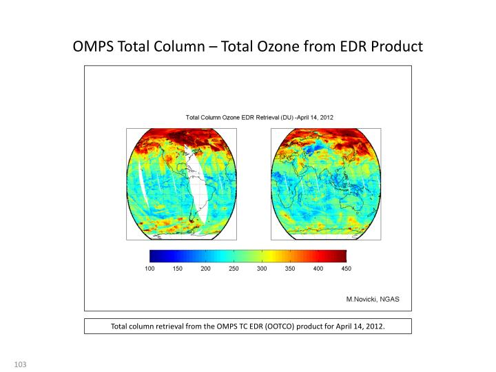 OMPS Total Column – Total Ozone from