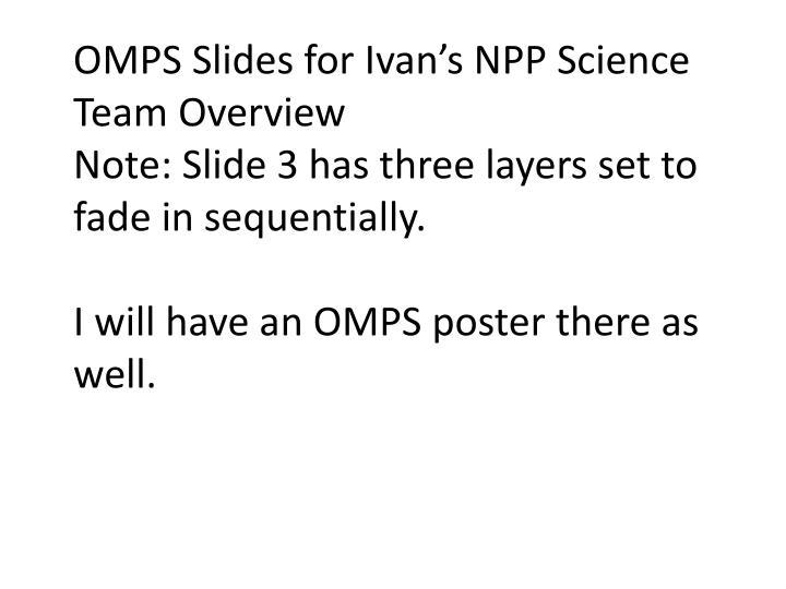 OMPS Slides for Ivan's NPP Science Team Overview