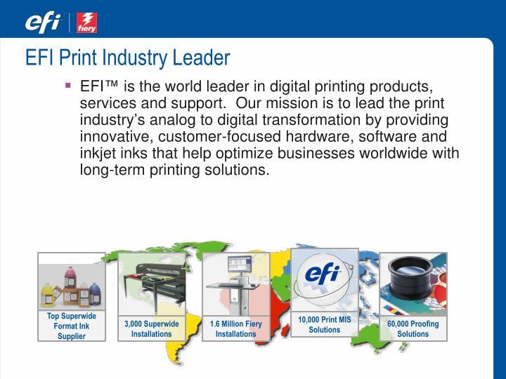 EFI Print Industry Leader
