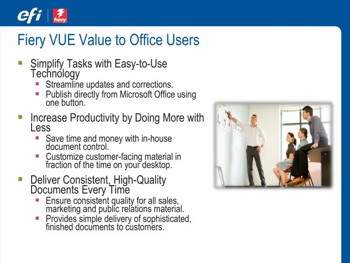 Fiery VUE Value to Office Users