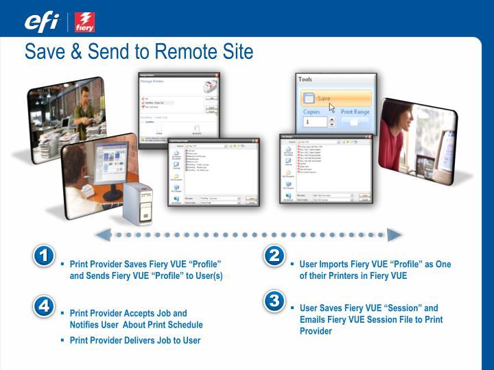 Save & Send to Remote Site