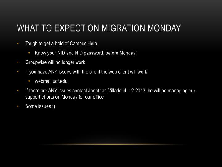 What to expect on Migration Monday