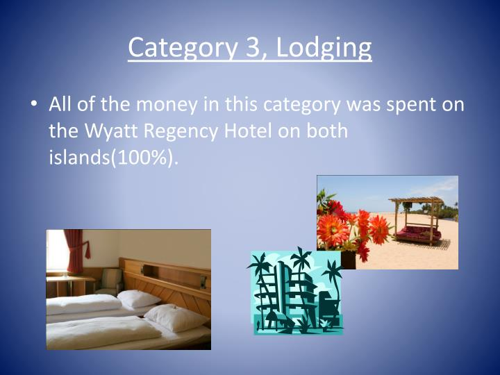Category 3, Lodging