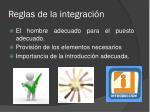 reglas de la integraci n