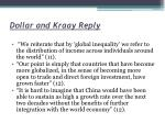 dollar and kraay reply