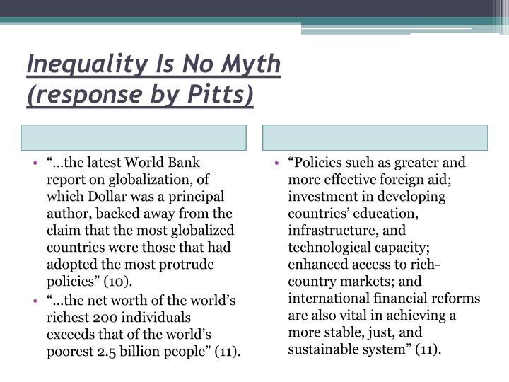 Inequality Is No Myth