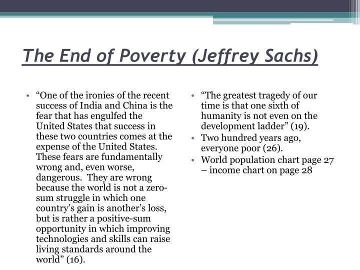 The End of Poverty (Jeffrey Sachs)