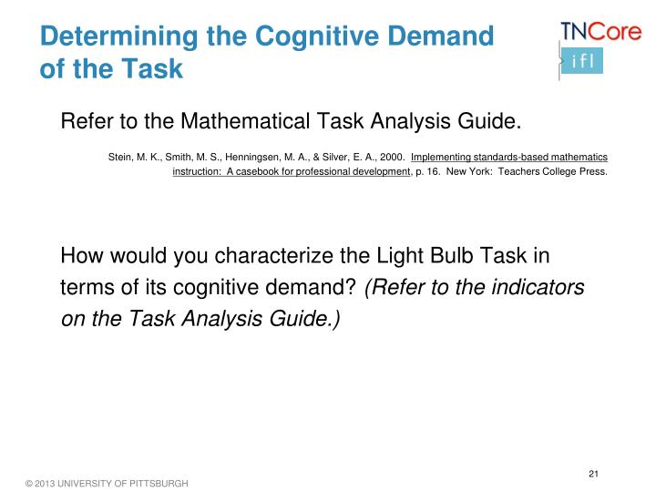 Determining the Cognitive Demand