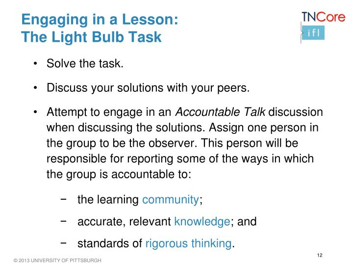 Engaging in a Lesson:
