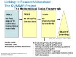 linking to research literature the quasar project1
