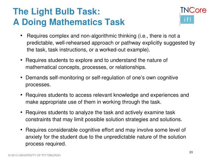 The Light Bulb Task: